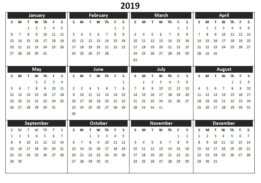 Printable 2019 Calendar Uk 2019 Calendar Printable Templates Word Excel Wallpapers