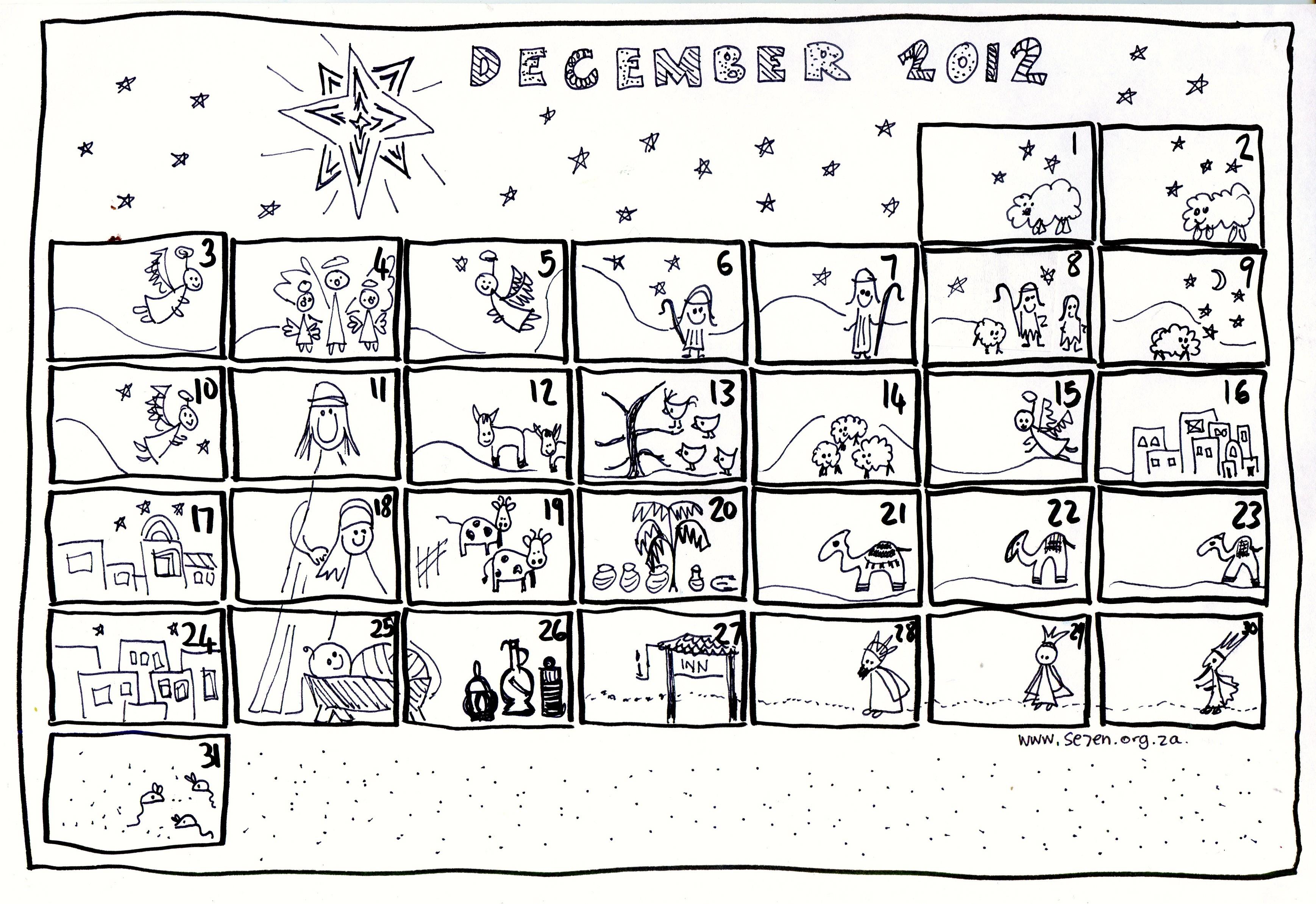 Printable Advent Calendar for Kids Advent Calendar 2017 Printable