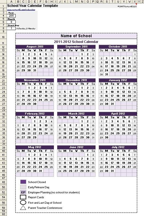 Unique Free Printable School Calendar 2019 15