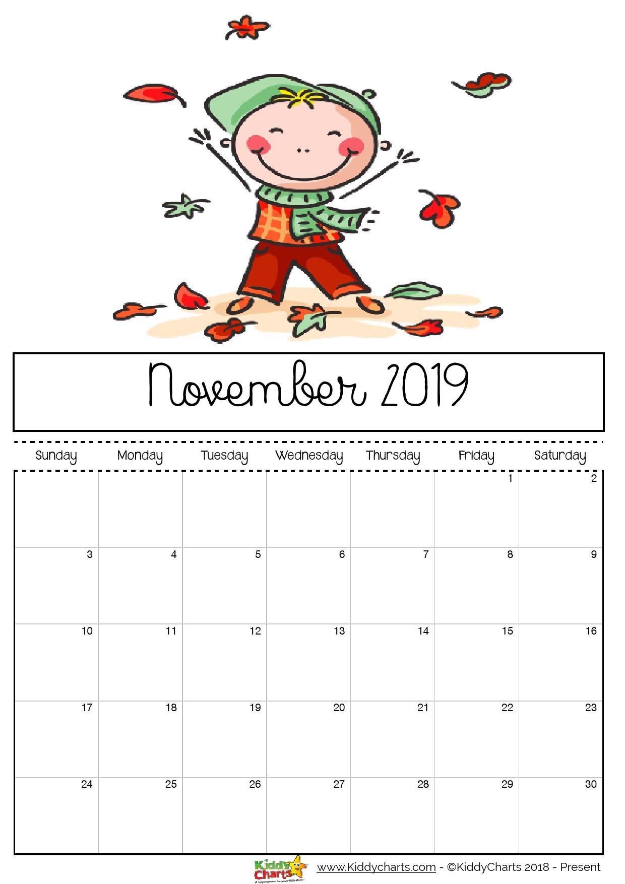 Printable Calendar 2019 for Kids Free Printable 2019 Calendar for Kids