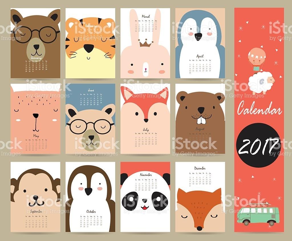 Cute 2017 Calendar