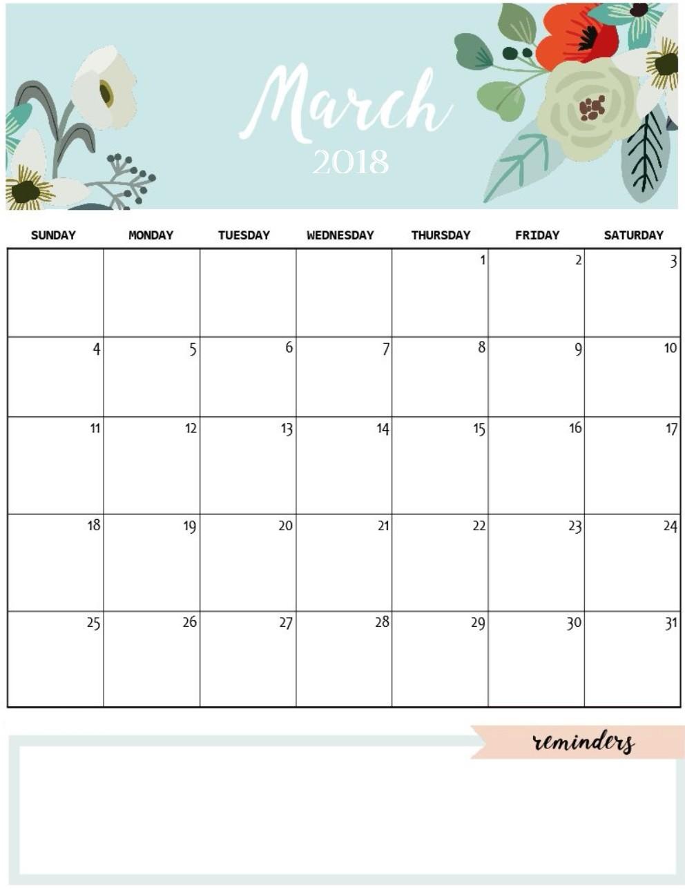 Printable Calendar Cute