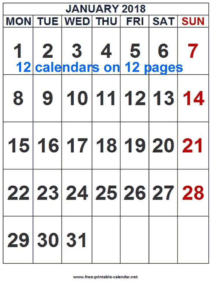 Printable Calendar events 2018 event Calendar Download & Print Calendars From Free