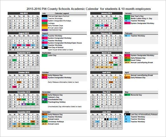 Calendar Template 41 Free Printable Word Excel PDF