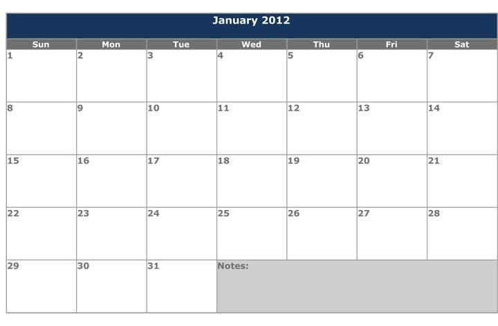 Free Calendar Template Word