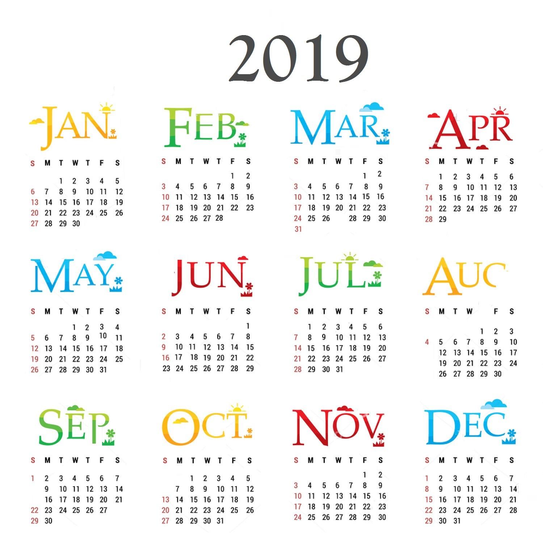 Printable Calendar Year 2019 10 Best 2019 Calendar Designs Ideas