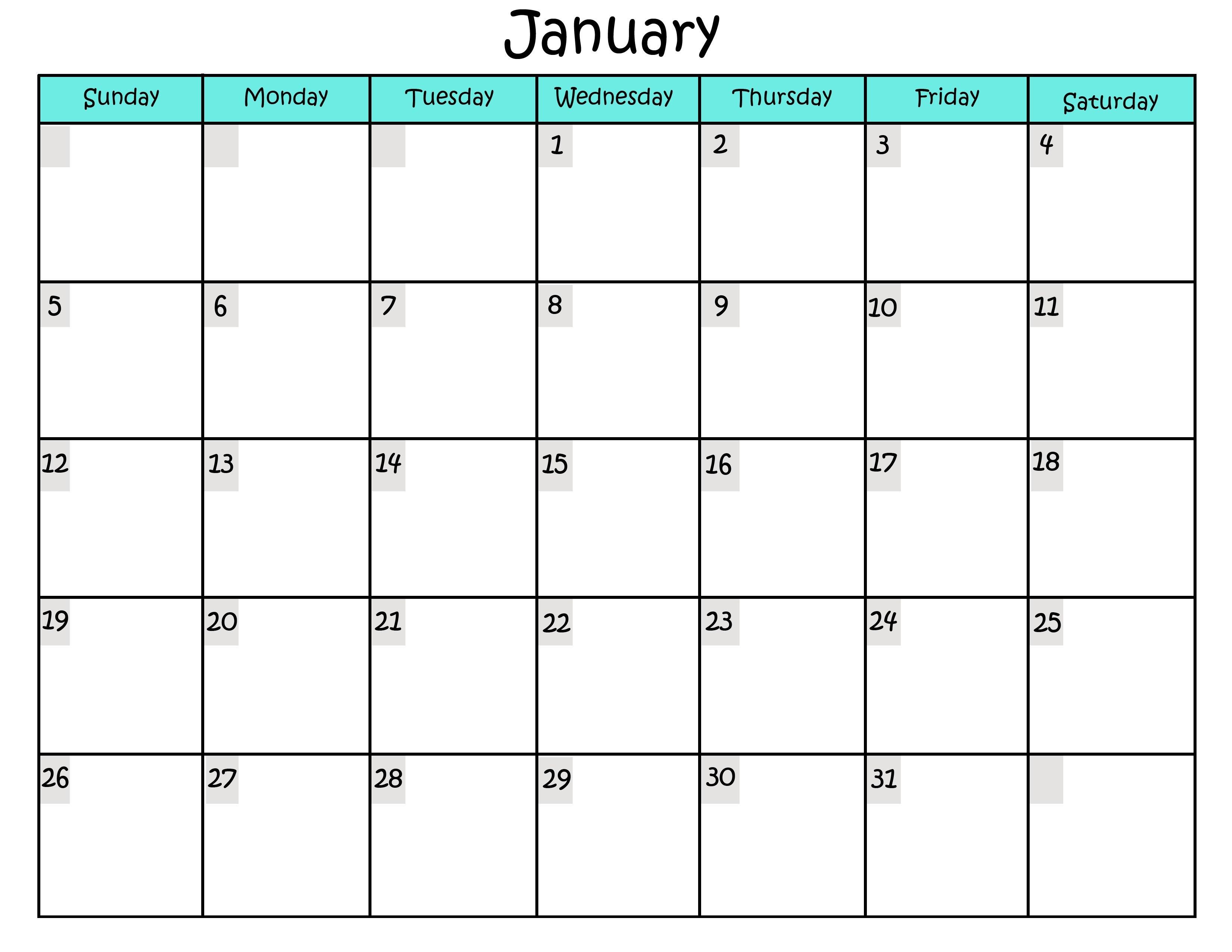 Printable Calendars Online Sample Calendars to Print