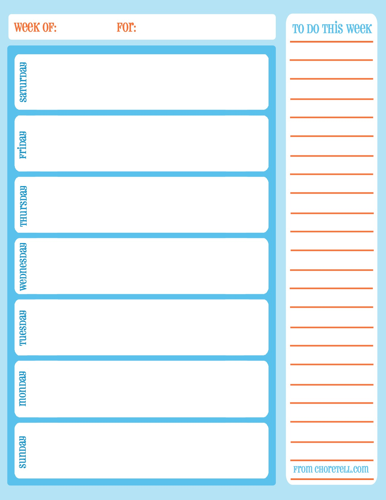 Printable Calendars Weekly