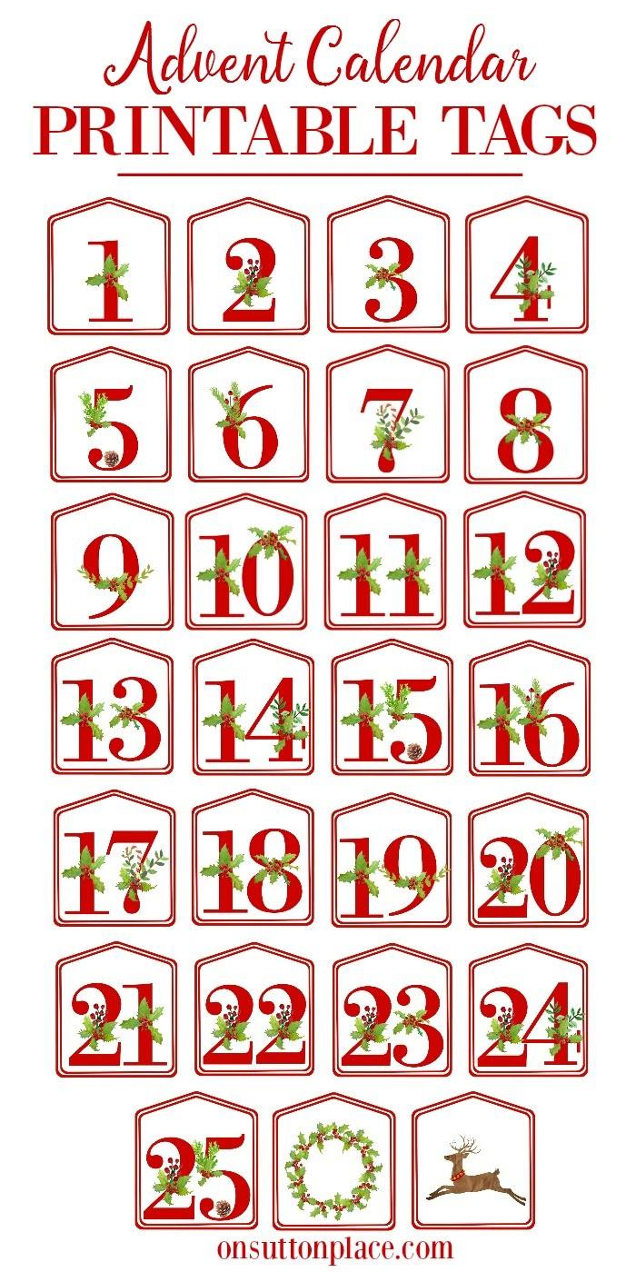 Printable Christmas Calendars Christmas Alphabet Printables Sutton Place