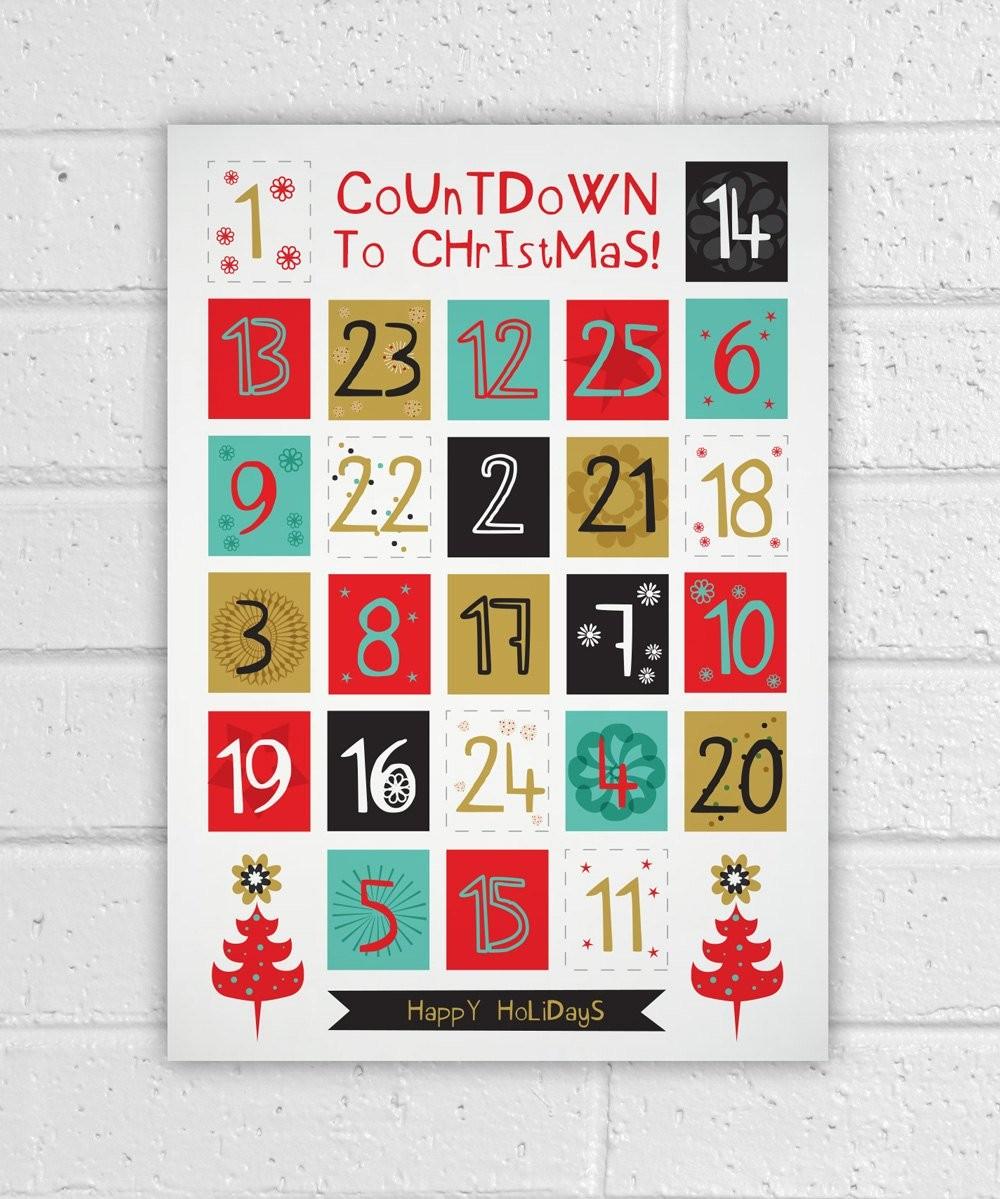 Printable Christmas Calendars Printable Advent Calendar Holiday Diy Christmas Countdown