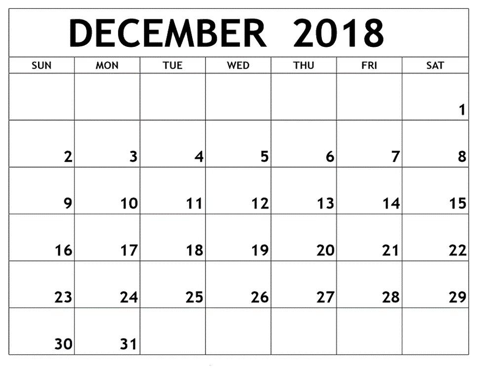 Get Free Download November & December 2018 Printable