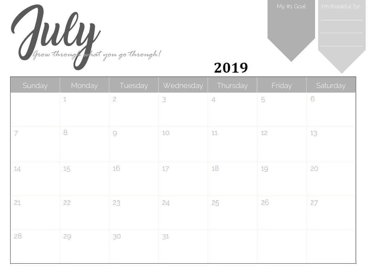 Printable Desk Calendar 2019 Free Printable 2019 Monthly Calendar