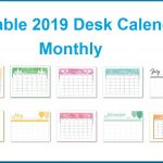 Printable Desk Calendar 2019 Printable 2019 Desk Calendar
