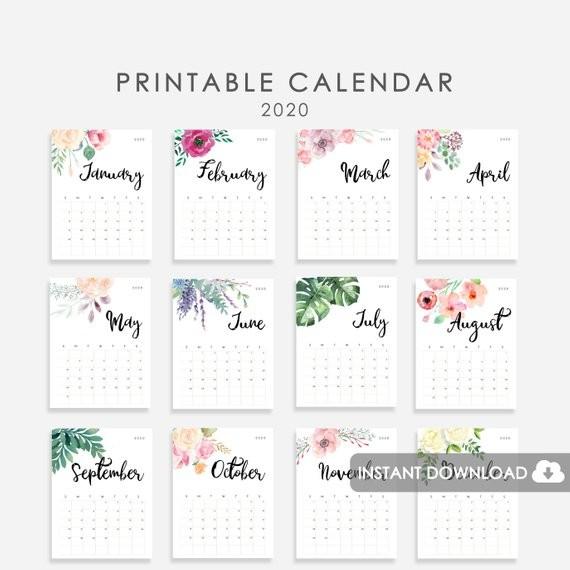 2020 Calendar PRINTABLE