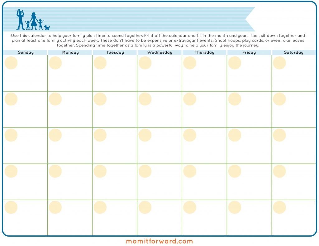 Family Calendar Printable Mom it Forward