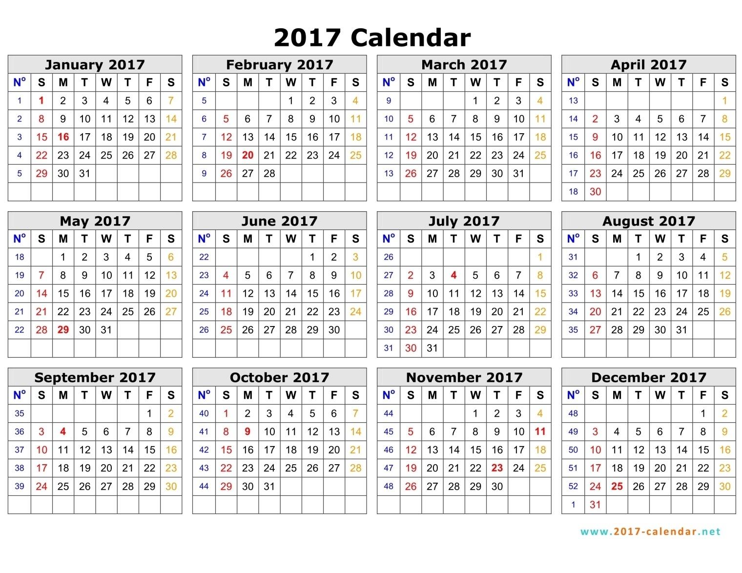 Islamic Calendar 2017 Uk