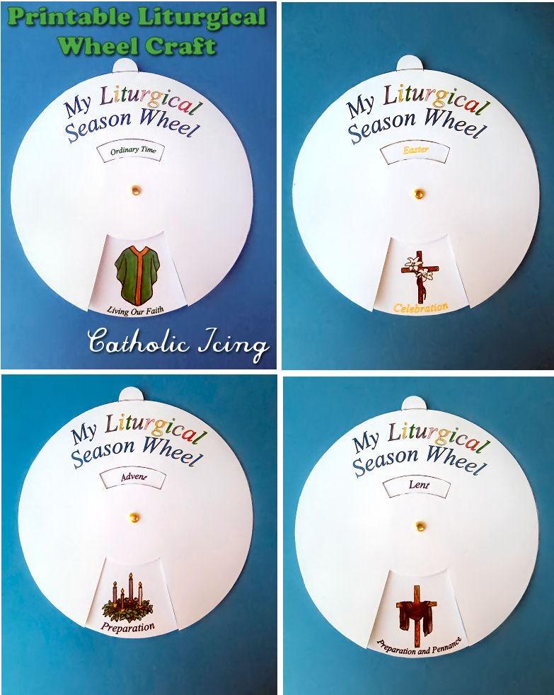 Printable Liturgical Calendar Liturgical Calendar Printable Craft for Catholic Kids