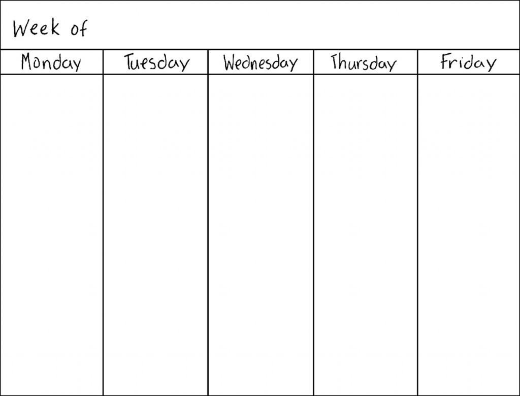 8 Best of Work Week Calendar Printable Free
