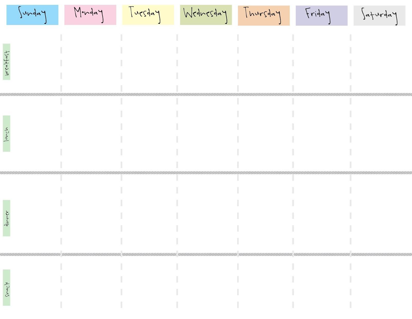 Printable One Week Calendar E Week Calendar Template