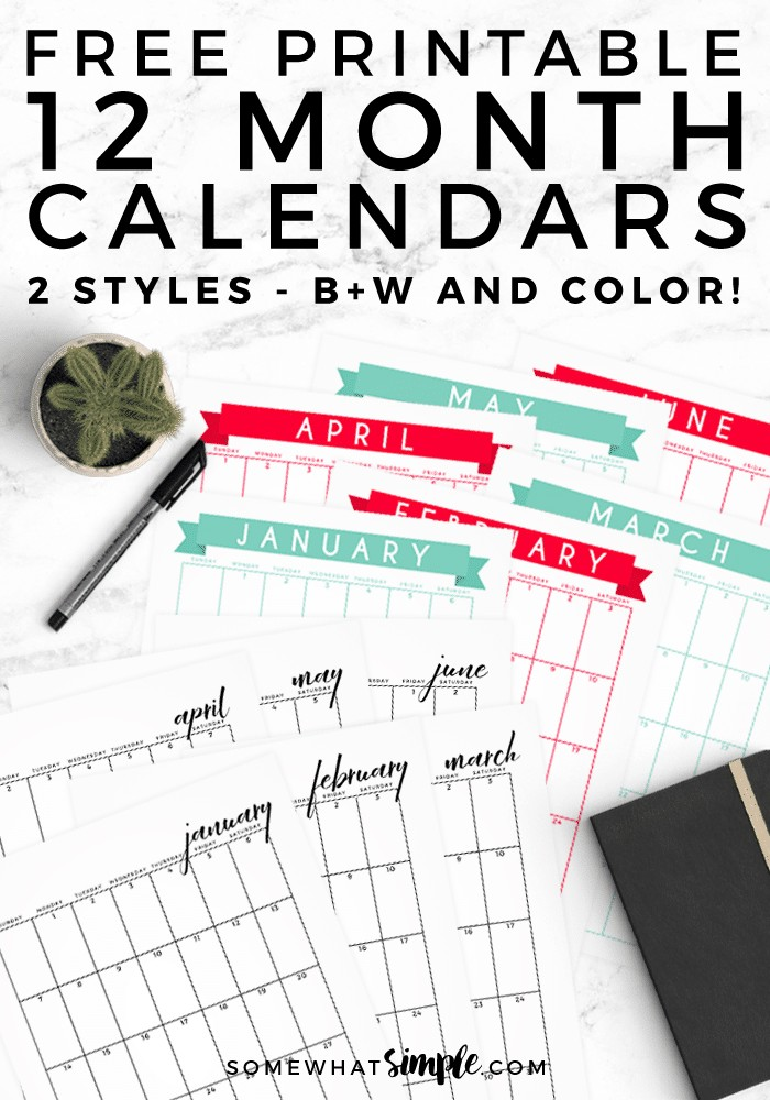 Free Printable Calendar 2018 Calendar Template