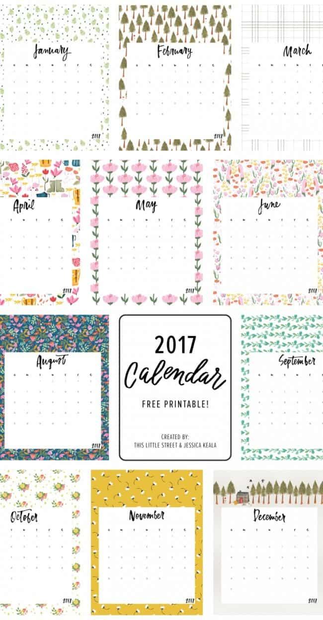 25 FREE Printable Calendars