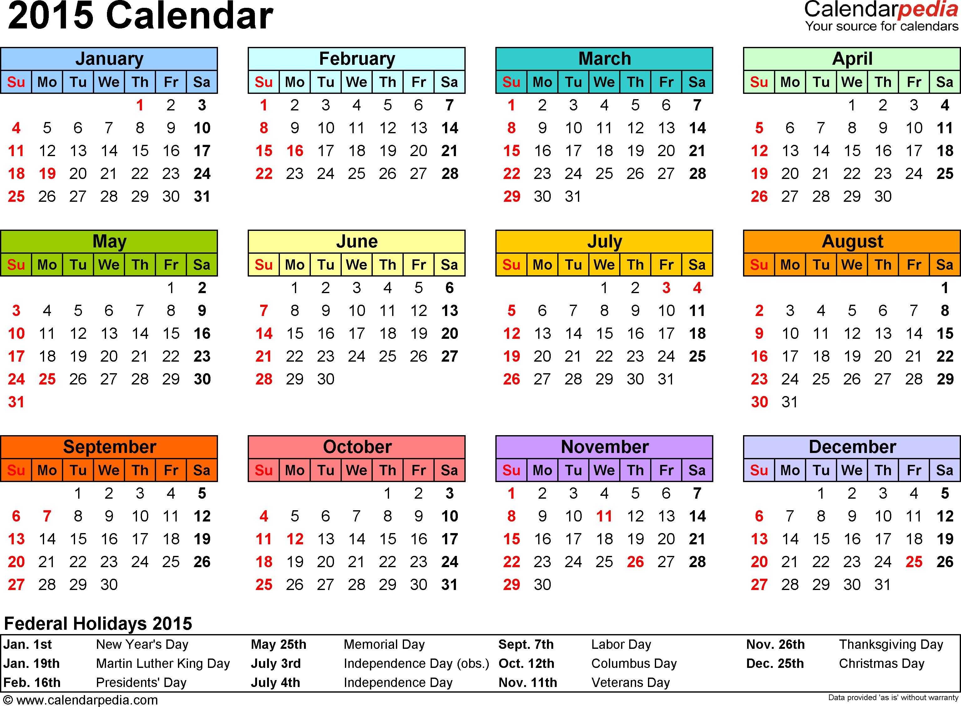 Printable Photo Calendar Free Calendars to Print 2015 – 2017 Printable Calendar
