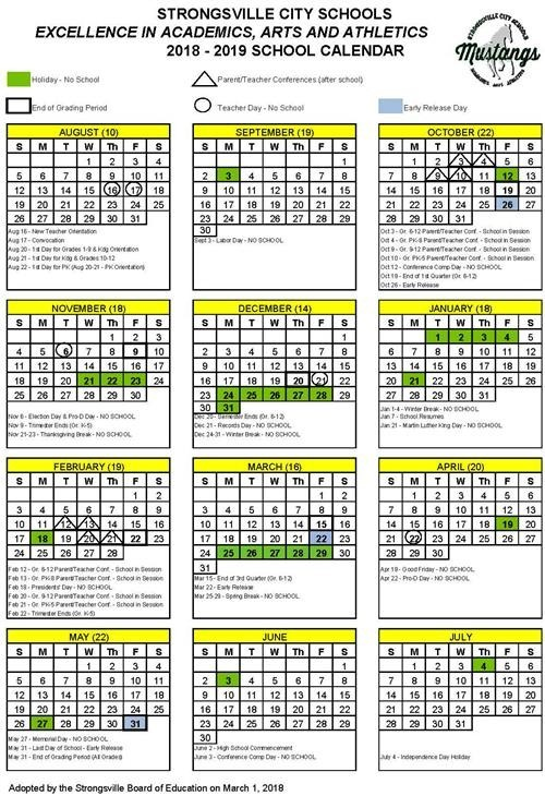 Printable School Calendar 2019-15