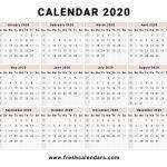 Printable Small Calendar 2020 2020 Calendar