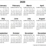Printable Small Calendar 2020 5 Best Of 2020 Yearly Calendar Free Printable