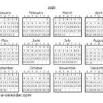 Printable Small Calendar 2020 Download 2020 Printable Calendars