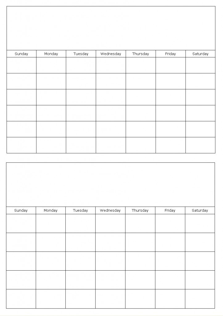 7 Best of Printable Month Two Pages Printable