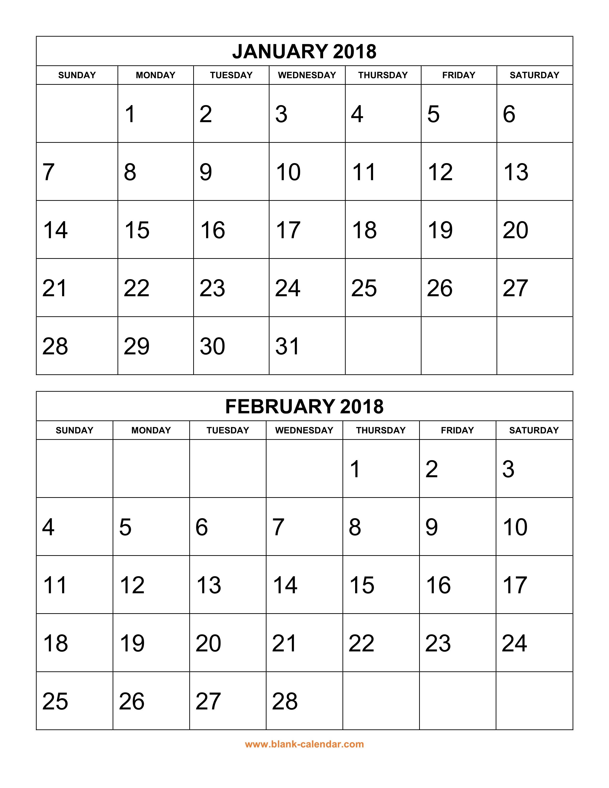 Printable Two Month Calendar Free Download Printable Calendar 2018 2 Months Per Page
