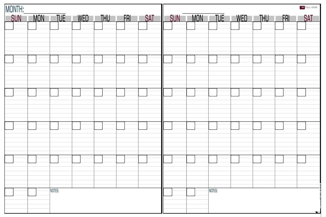 Printable 2 Month Calendar 101 Printables