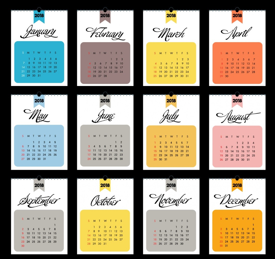 Free 2018 Wall Calendar Printable