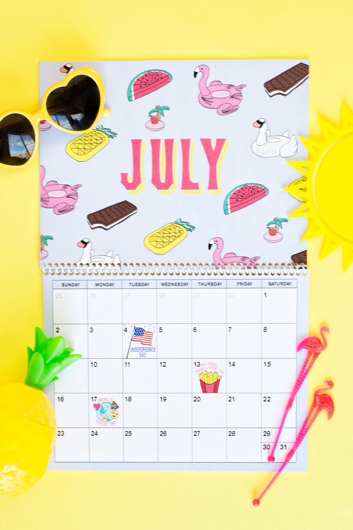 Printable Wall Calendar Free Printable 2017 Wall Calendar Studio Diy