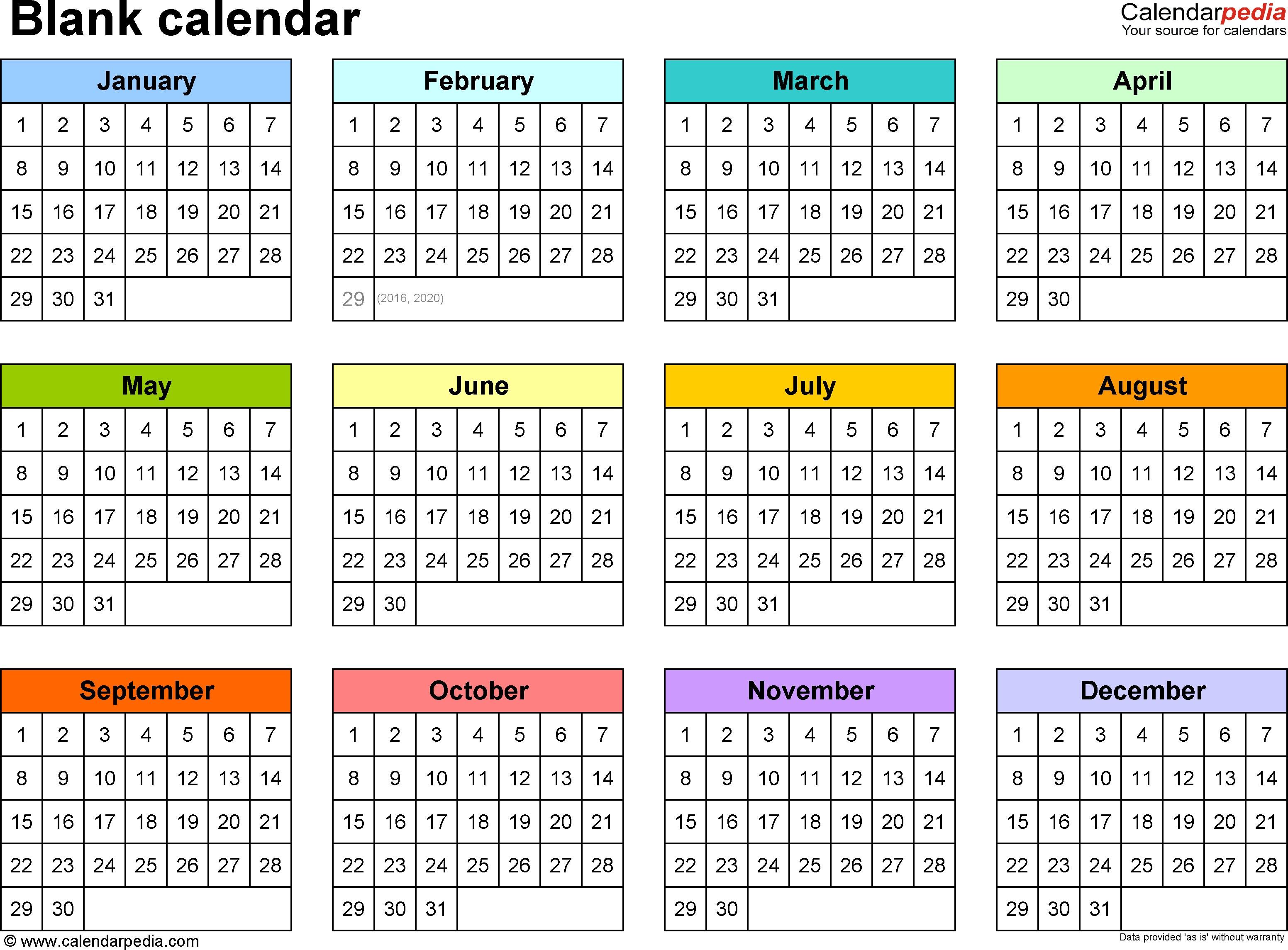 Yearly Printable Calendars Yearly Calendar Printable