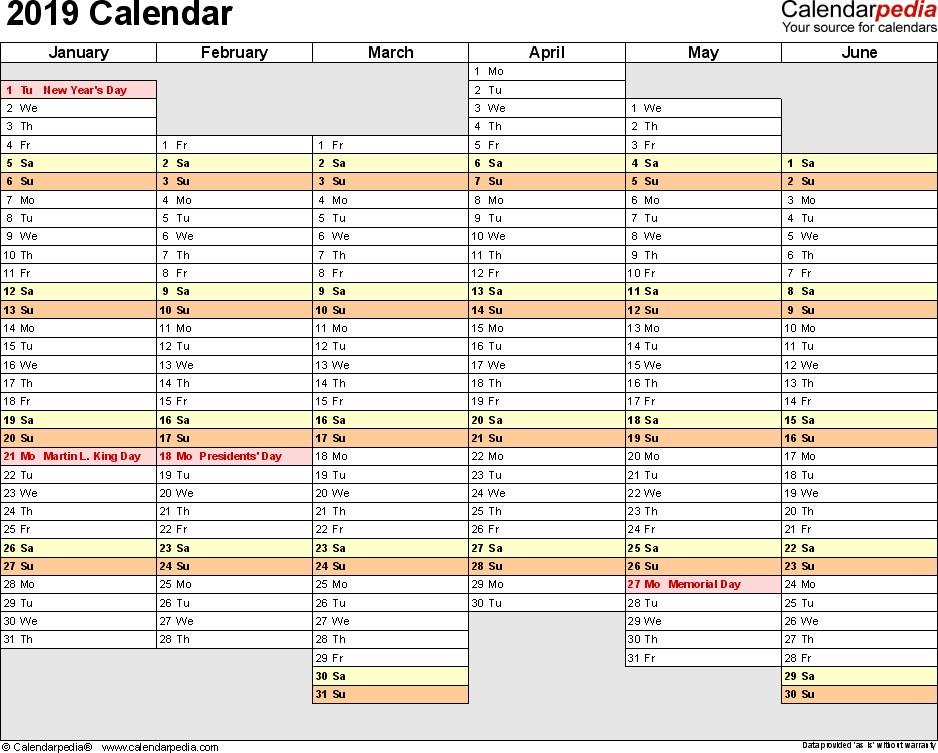 2019 Calendar Planner Printable