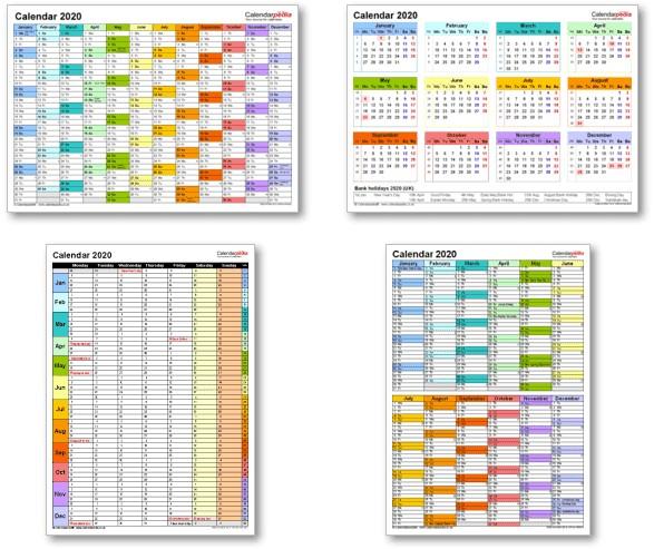 2020 Calendar Printable Uk Calendar 2020 Uk with Bank Holidays & Excel Pdf Word Templates