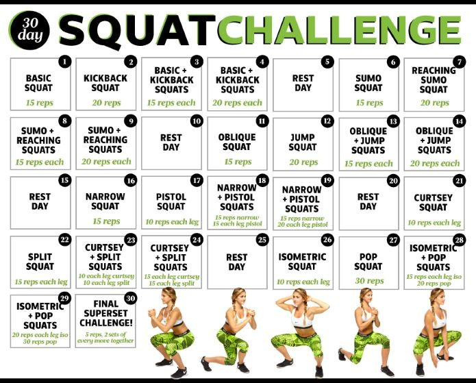30 Day Squat Challenge Printable Calendar [ultimate] Panion to 30 Day Squat Challenge Tips Jan