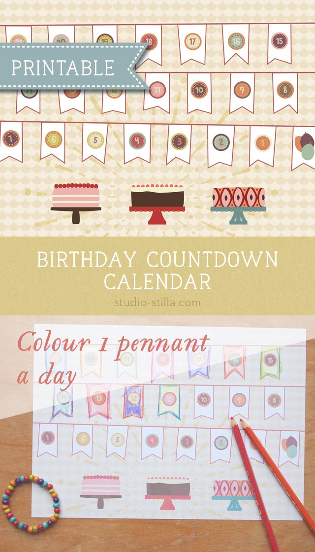 Birthday Countdown Calendar Printable Birthday Countdown Calendar Printable for Kids