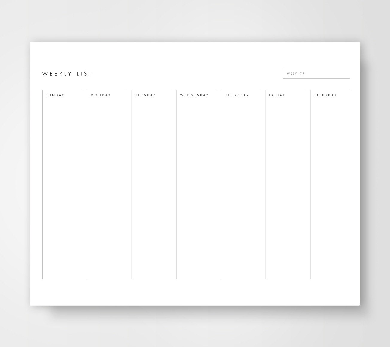 Weekly Calendar Printable Weekly To Do List Weekly To Do