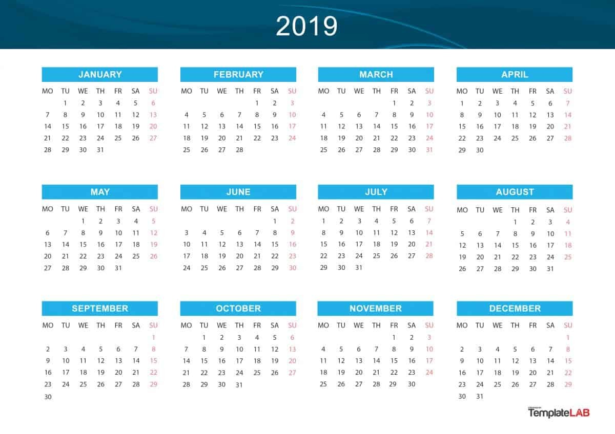 Calendars 2019 Printable 2019 Printable Calendars [monthly with Holidays Yearly