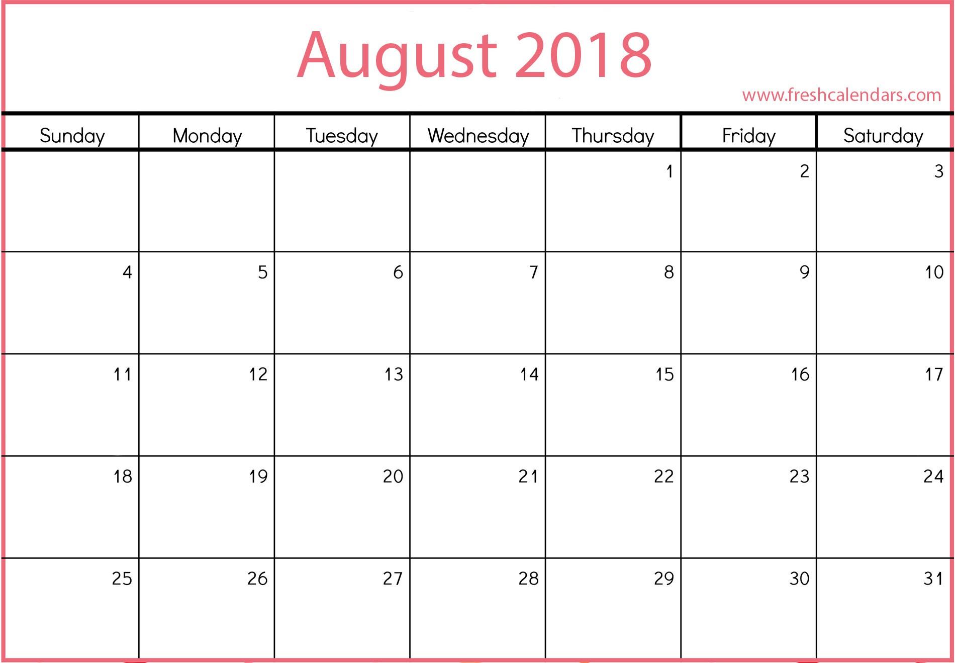 Calendars 2019 Printable Printable August 2019 Calendar Fresh Calendars