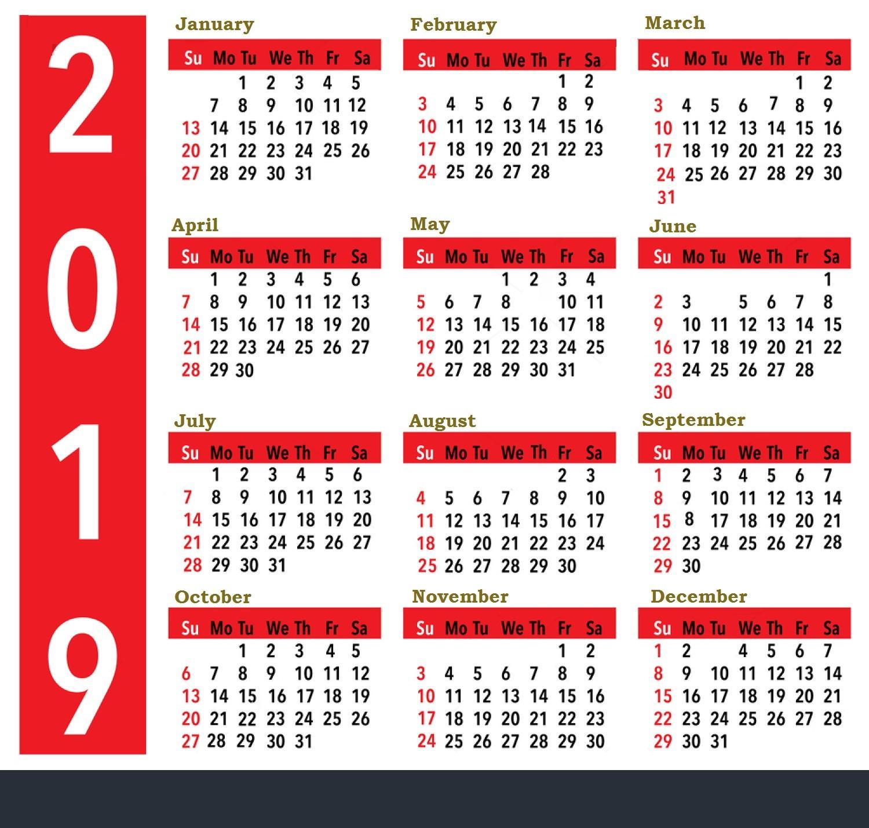Calendars Printable 2019 Printable Calendar 2019 United States