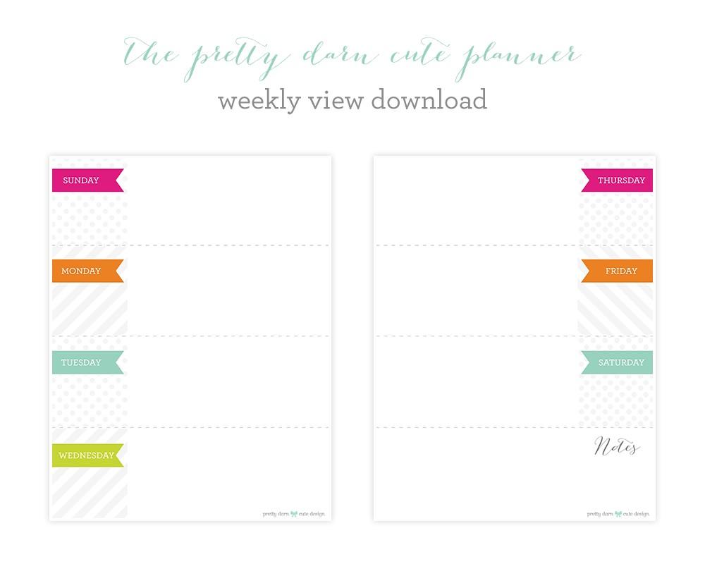 Cute Printable Weekly Calendar Cute Printable Weekly Planner Calendars L 56cfccf17fba6895