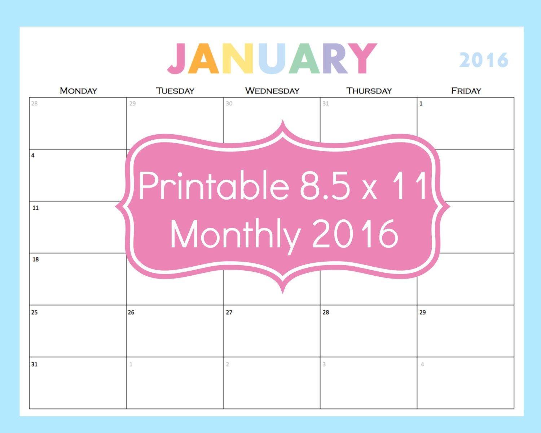 Day Calendar Printable Printable Calendar 5 Day Calendar 5 Day Weekly Planner