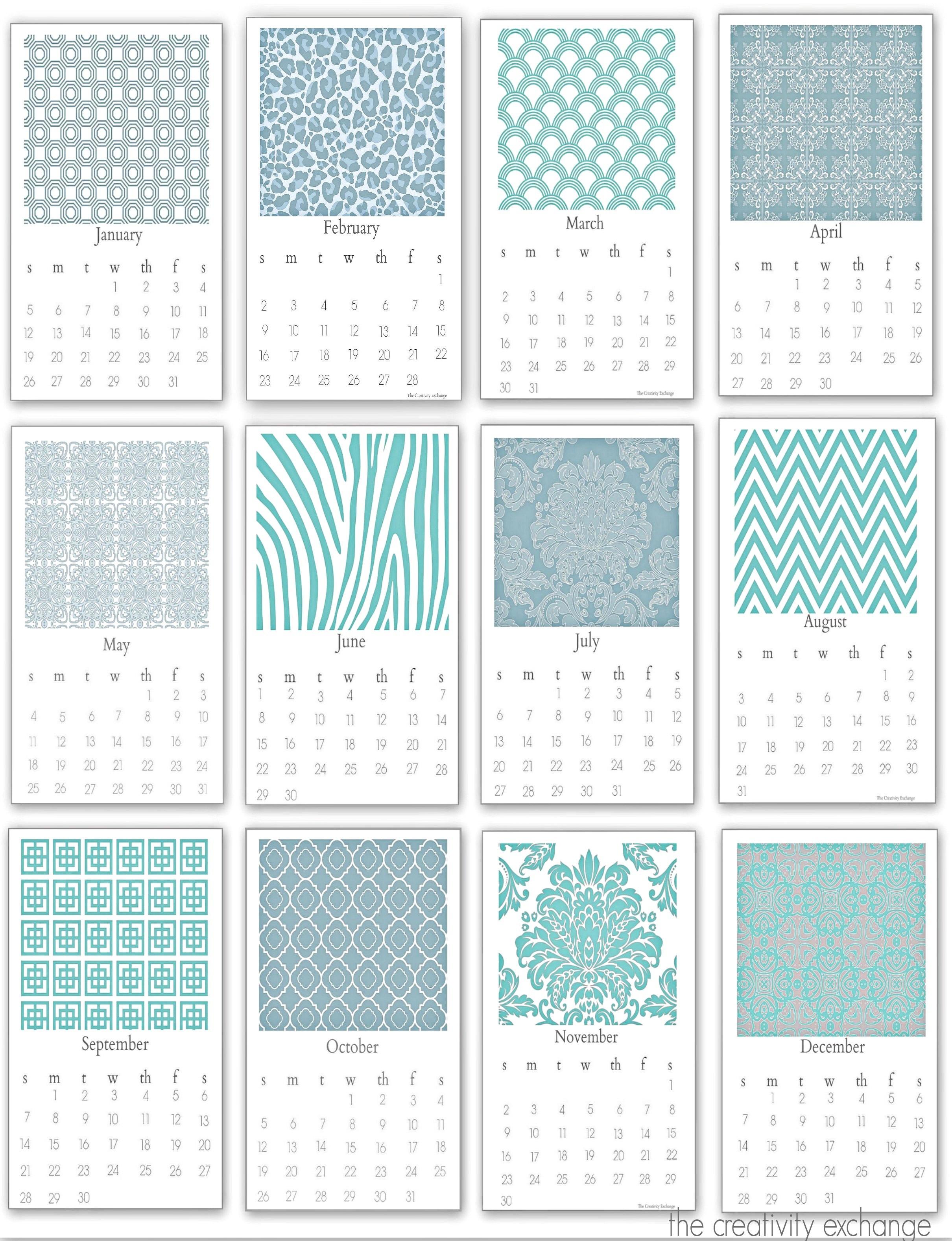 Desktop Calendar Printable