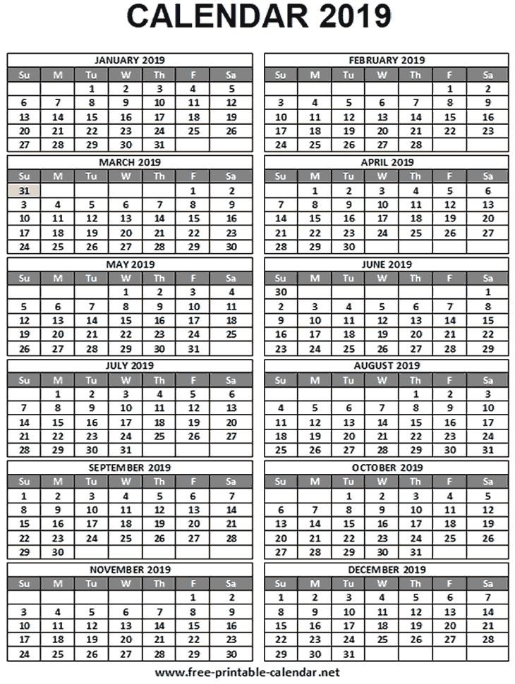 Free Printable Calendars 2019-2019 2019 Wallet Calendar Download & Print Calendars From