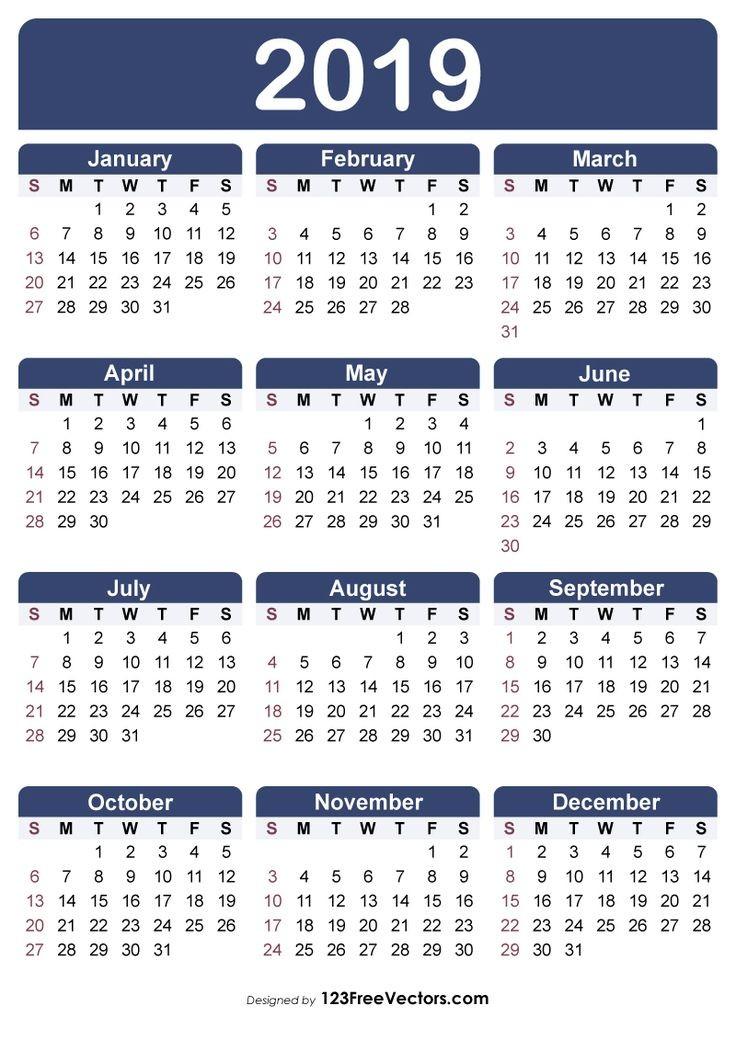 Free Printable Calendars 2019-2019 Free Printable Calendar 2019 2019 Calendar