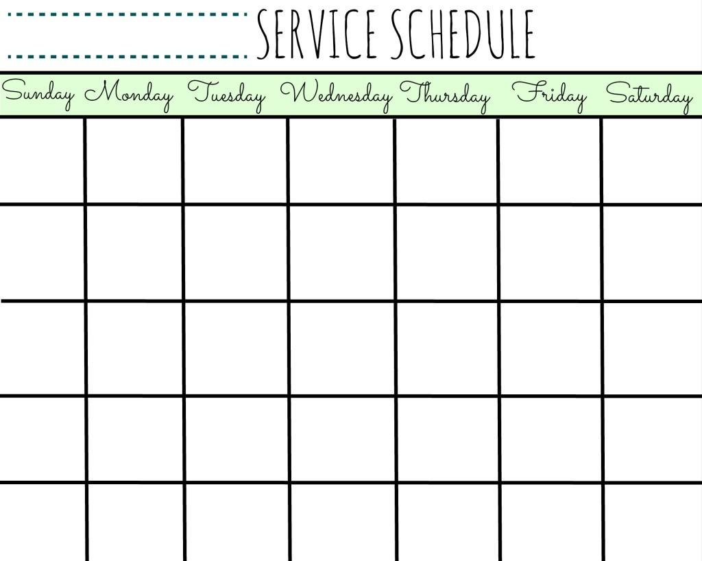 Free Printable Scheduling Calendar